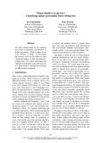 """Báo cáo khoa học: """"Classifying author personality from weblog text"""""""