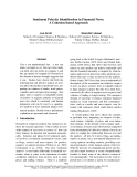 """Báo cáo khoa học: """"Sentiment Polarity Identification in Financial News: A Cohesion-based Approach"""""""