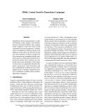 "Báo cáo khoa học: ""Mildly Context-Sensitive Dependency Languages"""