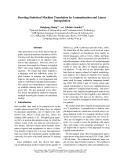"Báo cáo khoa học: ""Boosting Statistical Machine Translation by Lemmatization and Linear Interpolation"""