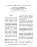 "Báo cáo khoa học: ""A Discriminative Language Model with Pseudo-Negative Samples"""