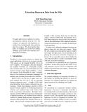 "Báo cáo khoa học: ""Extracting Hypernym Pairs from the Web"""