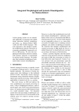 """Báo cáo khoa học: """"Integrated Morphological and Syntactic Disambiguation for Modern Hebrew"""""""