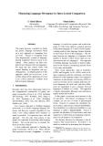 "Báo cáo khoa học: ""Measuring Language Divergence by Intra-Lexical Comparison"""