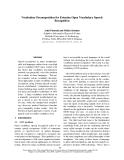 "Báo cáo khoa học: ""Vocabulary Decomposition for Estonian Open Vocabulary Speech Recognition"""