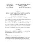 Quyết định số 03/2013/QĐ-UBND