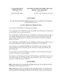 Quyết định số 08/2013/QĐ-UBNDC