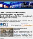 Der MBA International Management  für Offiziere