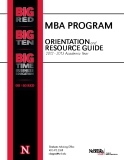 MBA PROGRAM ORIENTATION RESOURCE GUIDE 2012 - 2013