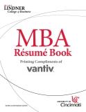 MBA Résumé Book Printing Compliments of VANTIV