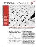 PERSONAL MBA GUIDE: How to Turn Your Dreams Into Reality