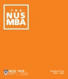 THE NUS MBA: Academic Year  2013 – 2014