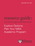 Sách Explore Options;  Plan Your MBA  Academic Program
