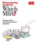 DISTANCE-LEARNING SPECIAL 2010 - WHICH MBA?