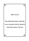 TIỂU LUẬN:  Mâu thuẫn biện chứng và biểu hiện của nó trong quá trình xây dựng nền kinh tế thị trường ở Việt Nam