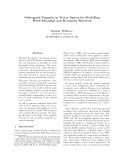 """Báo cáo khoa học: """"Orthogonal Negation in Vector Spaces for Modelling Word-Meanings and Document Retrieval"""""""