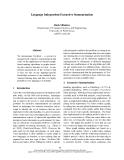 "Báo cáo khoa học: ""Language Independent Extractive Summarization"""