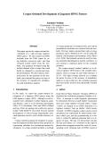 "Báo cáo khoa học: ""Corpus-Oriented Development of Japanese HPSG Parsers"""