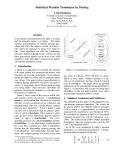 "Báo cáo khoa học: ""Statistical Machine Translation by Parsing"""