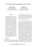 """Báo cáo khoa học: """"Context-dependent SMT Model using Bilingual Verb-Noun Collocation"""""""