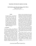 """Báo cáo khoa học: """"Experiments with Interactive Question-Answering"""""""