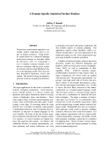 """Báo cáo khoa học: """"A Domain-Specific Statistical Surface Realizer"""""""