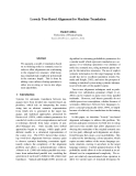 """Báo cáo khoa học: """"Loosely Tree-Based Alignment for Machine Translation"""""""