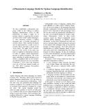 "Báo cáo khoa học: ""A Phonotactic Language Model for Spoken Language Identification"""