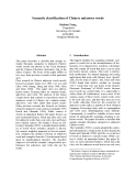 """Báo cáo khoa học: """"Semantic classification of Chinese unknown words"""""""
