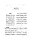 "Báo cáo khoa học: ""A Machine Learning Approach to German Pronoun Resolution"""
