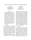 """Báo cáo khoa học: """"Unsupervised Learning of Dependency Structure for Language Modeling"""""""