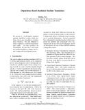 "Báo cáo khoa học: ""Dependency-Based Statistical Machine Translation"""
