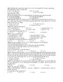 Đề Thi Thử Đại Học Hóa 2013 - Phần 7 - Đề 15