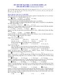 Đề Thi Thử Đại Học Hóa 2013 - Phần 7 - Đề 19