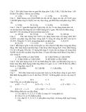Đề Thi Thử Đại Học Hóa 2013 - Phần 7 - Đề 4