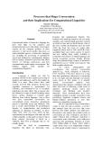 "Báo cáo khoa học: ""Processes that Shape Conversation and their Implications for Computational Linguistics"""