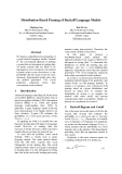 "Báo cáo khoa học: ""Distribution-Based Pruning of Backoff Language Models"""