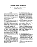 "Báo cáo khoa học: ""A Preliminary Model of Centering in Dialog*"""