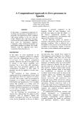 "Báo cáo khoa học: ""A Computational Approach to Zero-pronouns in Spanish"""