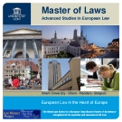 Master of Laws Advanced Studies in European Law