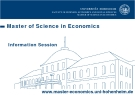 Master of Science in Economics Information Session