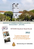 Master of tourism economics and hotel management (MTEHM) 2012