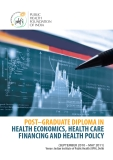 POST–GRADUATE DIPLOMA IN    HEALTH ECONOMICS, HEALTH CARE  FINANCING AND HEALTH POLICY