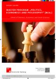"Master PrograM ""Politics,    econoMics and PhilosoPhy"" (M.sc.)"