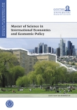 Master of Science in  International Economics  and Economic Policy