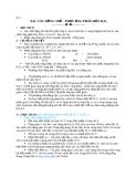 Bài 7: Xác tác đồng thể-Phản ứng phân thủy  H2O2