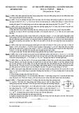 Đề Thi  Đại Học  Khối A Vật Lý 2003