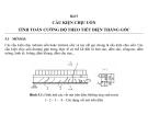 Kết cấu bê tông ứng suất trước-Bài 5: Tính toán cấu kiện chịu uốn theo tiết diện thẳng góc