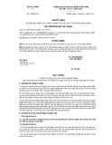 Quyết định số 72/QĐ-BTC
