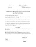 Quyết định số 46/QĐ-BTC